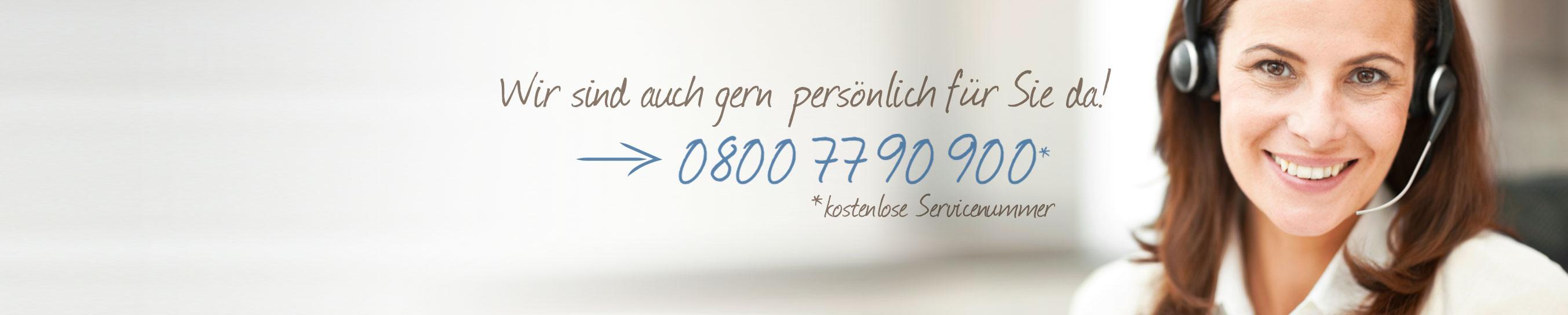 kostenlose Servicenummer